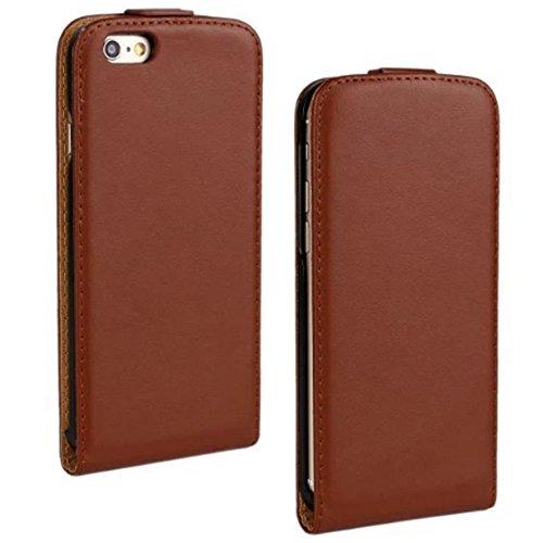 Etui iPhone Se, Coque iPhone 5s Pochette Portefeuille en Cuir Coque de Protection pour Housse iPhone 5 avec Fonction Stand-Brown/Marron