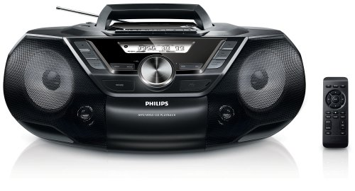 Philips AZ787 CD-Soundmachine (mit Kassette, Digital UKW, USB Direct, Sleep-Timer, 12 Watt) schwarz (Vorinstallierte Mit Mp3-player Musik)