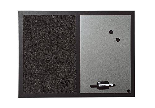 Bi-Office Kombitafel Black Shadow, Pinnwand und Whiteboard, MDF Rahmen 22 mm dicker, 60 x 45 cm