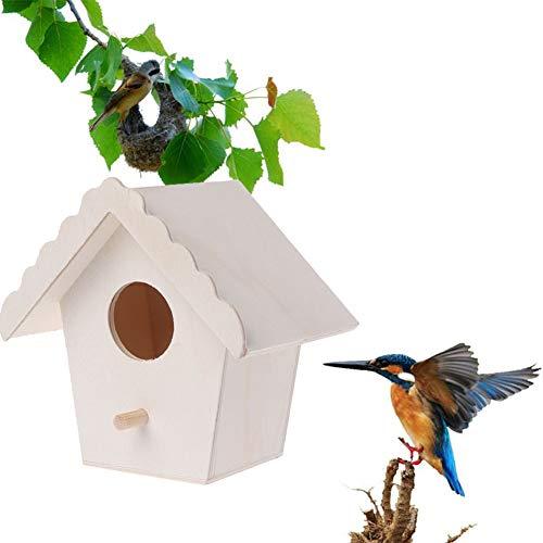 Cuigu casa Madera Natural para nidos de pájaros de Loro para Mascotas