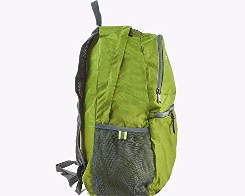 90c7789ada TBB-Doppio zaino borse tracolla pieghevole e impermeabile esterno portatile  pacchetto di viaggio,grigio ...