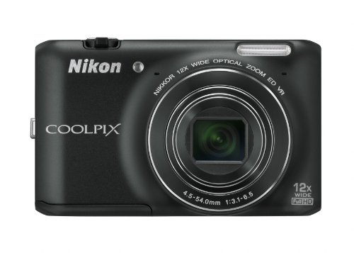 Nikon coolpix s6400 fotocamera digitale compatta, 16 megapixel, zoom 12x, 3200 iso max, lcd touchscreen 3