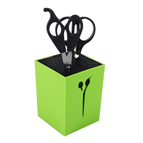 ter Scherenständer Haarschnitt Organiser Messer Ständer Mehrfunktionale Gabel Aufbewahrung-Box Scherenblock für Scheren, Bürste, Kamm oder Pinsel (Wie Man Mit Stäbchen)
