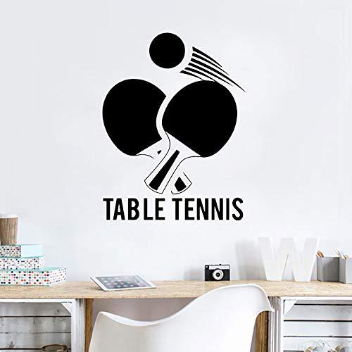zqyjhkou Tischtennis Wand Vinyl Aufkleber Ping Pong Sport Design Wandkunst Wandbild Gym Wand Poster Dekoration Sport Liebhaber Tapete Ay1110 42x54 cm -