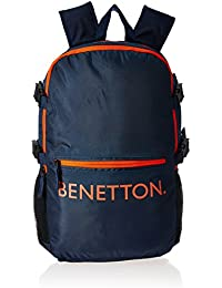 United Colors of Benetton 20 Ltrs Dark Blue Casual Backpack (16A6BAGT7002I)