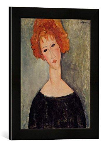 Amedeo Modigliani Kunstdruck (Gerahmtes Bild von Amedeo Modigliani