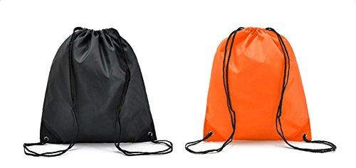 Gespout Oxford Tuch Tunnelzug Schultertasche Drawstring Schultertasche Strandtasche Aufbewahrungsbeutel wasserdichtes Badebeutel Kordel Taschen Beutel Reisetasche,Lila Orange
