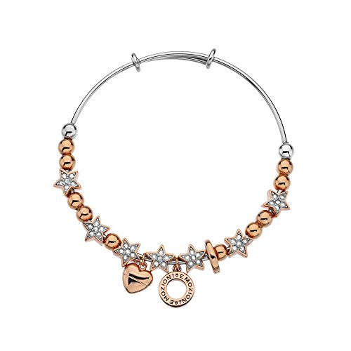 Emozioni by Hot Diamonds-Bracelet Jonc Femme-Etoile en cristal Rose Gold/Crystal
