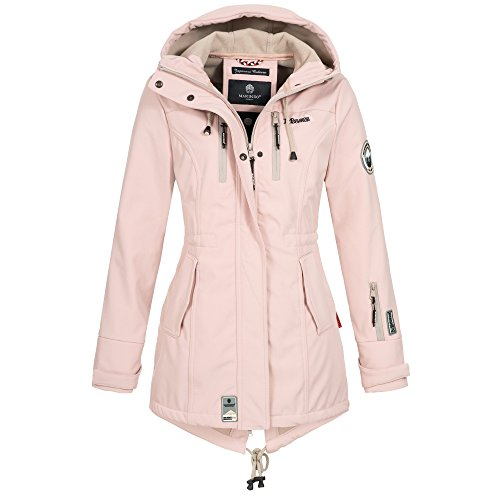 Marikoo ZIMTZICKE Damen Jacke Softshelljacke Winterjacke Regenjacke Outdoor XS-XXL 8-Farben, Größe:S, Farbe:Rose