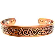 Magnetic Copper Arthritis Therapy Bracelet ~ Traditional Celtic Design with 6 Magnets to Relieve Arthritis for Men or Women by Chain-Relief®