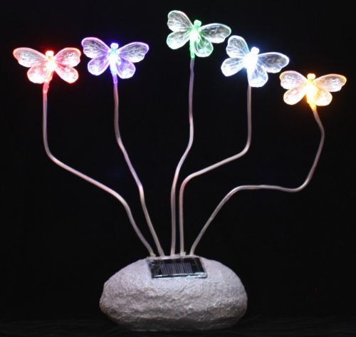 Outdoor Garden Decor Rock Solar Landscape Light 5 Color LEDs by SW Closeout