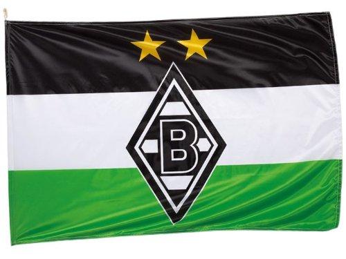 VFL Borussia Mönchengladbach Herren Borussia Mönchengladbach-Fohlenelf-Artikel-Hissfahne Raute Flagge, Mehrfarbig, 150 x 100 cm