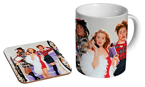 Clueless Ceramic Coffee MUG + Coaster Gift Set …