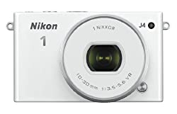 Nikon 1 J4 18.4MP Mirrorless Digital Camera with 1 Nikkor 10-30 mm f/3.5-5.6 PD Zoom Lens (White)