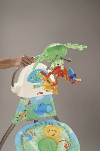 Fisher-Price K6077 – hamaca electrica para bebé, diseño de selva - 3