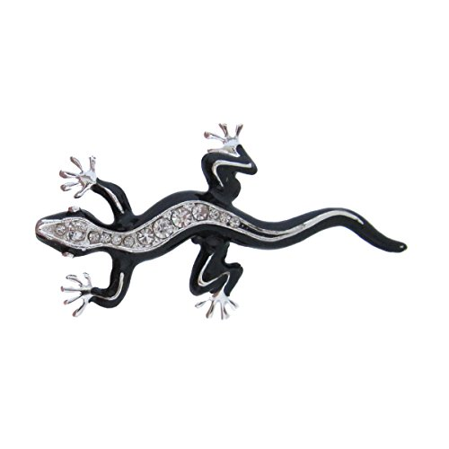 silber-und-kristall-schwarz-emaille-brosche-eidechse-geico-salamander