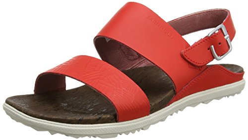 Merrell Damen Around Town Backstrap Print Sandalen, Rot (Fiery Red), 39 EU