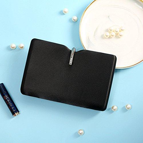 MLL Simulation Seide Umhängetasche Abendessen Kleid Messenger Bag süße Dame Handtasche,schwarz,A -