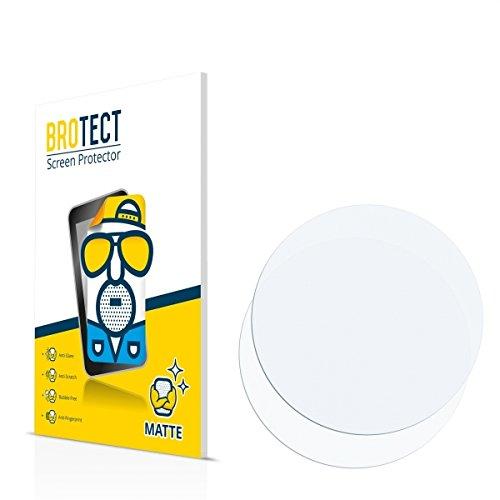 2X BROTECT Matt Displayschutz Schutzfolie für Armbanduhren (kreisrund, Durchmesser: 55mm) (matt - entspiegelt, Kratzfest, schmutzabweisend)
