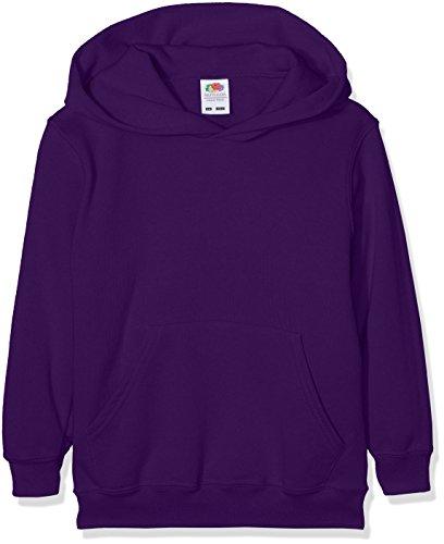 Fruit of the Loom Jungen Regular Fit Kapuzenpullover Classic Hoodie, Violett (Purple PE), 140 (Herstellergröße: 9-10 Jahre) - Pe-uniformen