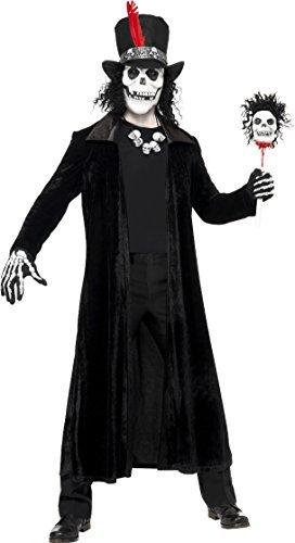 Kostüm Sensenmann Plus - Herren Voodoo Mann Kostüm Gruselig Halloween Plus Maske Einheitsgröße Passt Brust 38