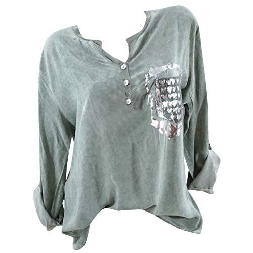 Allegorly Bluse Damen Sommer Shirt Schulterfrei Oberteile Reizvoller Übergröße Half Ärmel Federdruck V-Ausschnitt Sweatshirt...