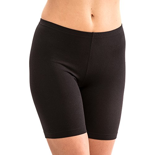HERMKO 5780 Damen Longpant aus Baumwolle/Elastan Schlüpfer, Farbe:schwarz, Größe:44/46 (L)