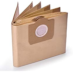 GL Gear Paquet de 10 Karcher 6.959-130.0 Dustbag en Papier A 2201/2204/2504 pour Karcher WD3 WD3P Wet & Dry Aspirateur de Remplacement