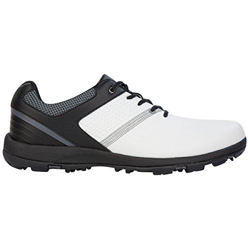 Stuburt, scarpe da golf Hydro sport, edizione 2017,scarpe da uomo, performance sportive, leggere e con tacchetti Black/White