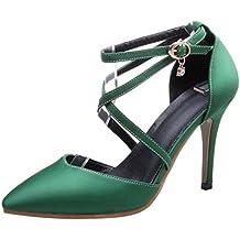 RAZAMAZA Mujer Moda Verano Cerrado Tacon de Aguja Sandalias Criss Cross Strappy Zapatos
