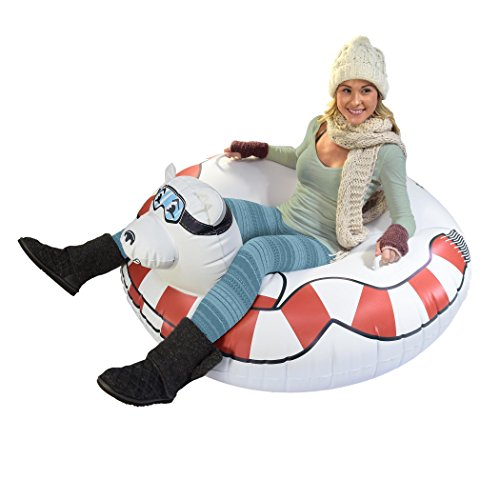 gofloats Winter Snow Tube Toboggan – Die ultimative Schlitten &, ST-POLARBEAR-01