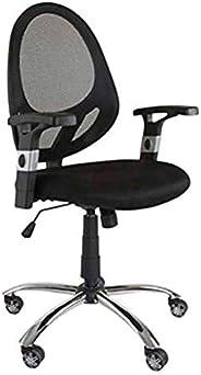 Mahmayi Executive Back Mesh Chair – Chrome Base, Castor Wheels, Cushioned Seat Low Back- (Black)
