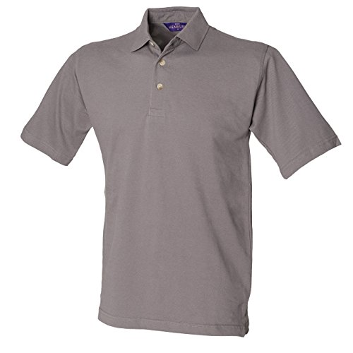 Classic-polo con colletto alto Slate Grey