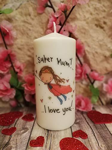 Festa della mamma - candela decorata a mano