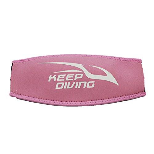 MagiDeal Neopren Maskenband - Tauchmaskenband, universal und komfort - Rosa