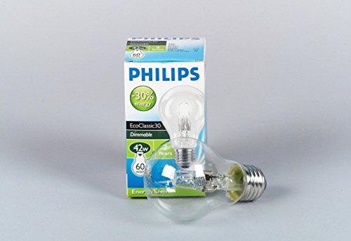 Philips Quarz-Halogen-Lampe ECOCLASSIC30 A55 E27 clear 2000h 53W -