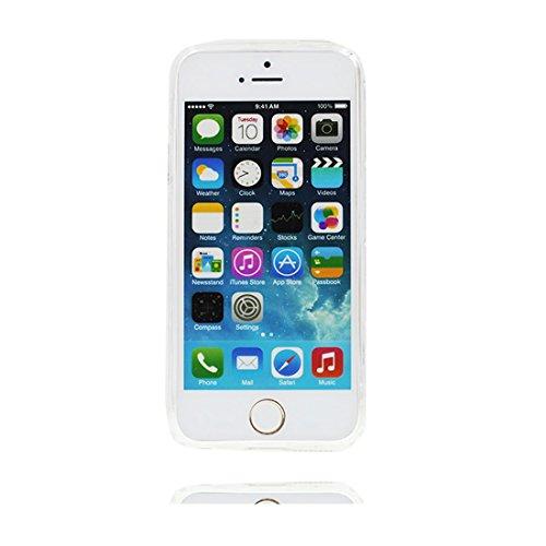 iPhone 5 SE 5S 5G Custodia, Sirena & ragazza - TPU Cartoon Carino durevole case Copertura per iPhone 5 SE 5S 5G ( Silicone Soft Soft trasparente ) [Graffi - Poof] # 2