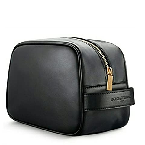 Dolce & Gabbana Men's Black Beauty Toiletry Bag Travel Overnight