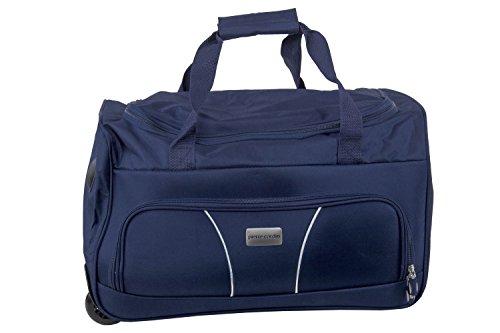 Borsa da palestra PIERRE CARDIN blu borsone da viaggio con trolley M253