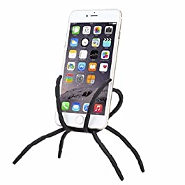 Bendable Spider Flexible Grip /Mount / Stand Car Phone Holder & Dock @KOW