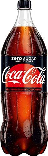 Coca Cola - Coca Cola Zero koffeinhaltiges Erfrischungsgetränk- 2l inkl. Pfand (Coca Cola 2 Liter)