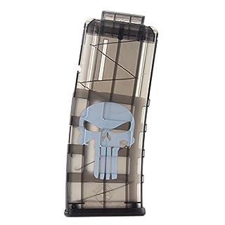 TXXCI Worker Schädel-Muster Soft Bullet Clip Reload Clip Magazine für 12 Darts Für Nerf N-Strike Elite Serie Spielzeuggewehre
