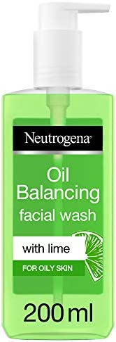 Neutrogena, Oil Balancing Facial Wash, Lime, For Oily Skin, 150ml