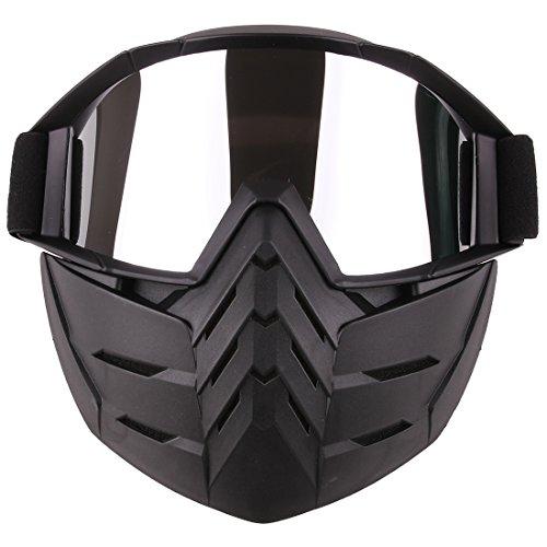 Taktische Maske Schutzbrillen BANDRA Halbe Gesichtsmaske für Airsoft Paintball Nerf CS