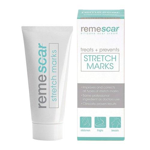 Remescar Creme   Gegen Dehnungsstreifen Und Narben   Für Schönere Und Glattere Haut   Beruht Auf Silikon-Basis   Natürliche Inhaltsstoffe