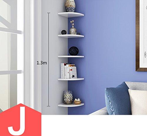 LiuJF-Home Accessories Wohnzimmer-Eckregal, kreatives Eckregal auf der Wand Stativ-Klammer-Wand-Sektor-Wand-Berg-Trennzeichen-Kind-Raum-Ausstellungsstand (Size : J) - Sie Auf Klammern Blatt Schreiben Auf