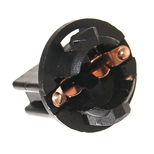 Preisvergleich Produktbild 12x T10 Fassung für Flipper W5W Glassockel Automaten W2,1x9,5d Lampenfassung GE555 GE159 194 Neu Beleuchtung 6,3V 12V Joy-Button