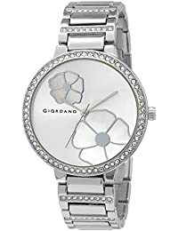Giordano Analog Silver Dial Women's Watch-C2165-11