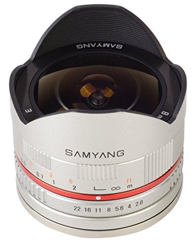 Samyang 8 mm f:2.8 UMC Fisheye - Objetivo para Sony, plata