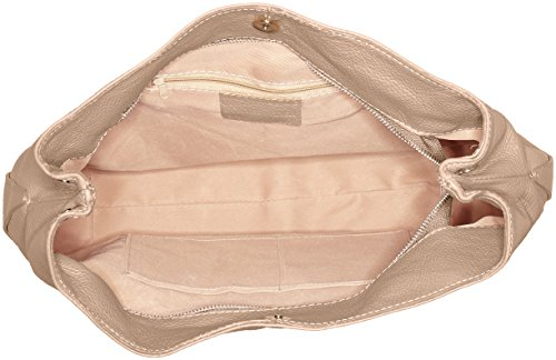 Bags4Less - Dunya, Borse a tracolla Donna Marrone (Taupe)